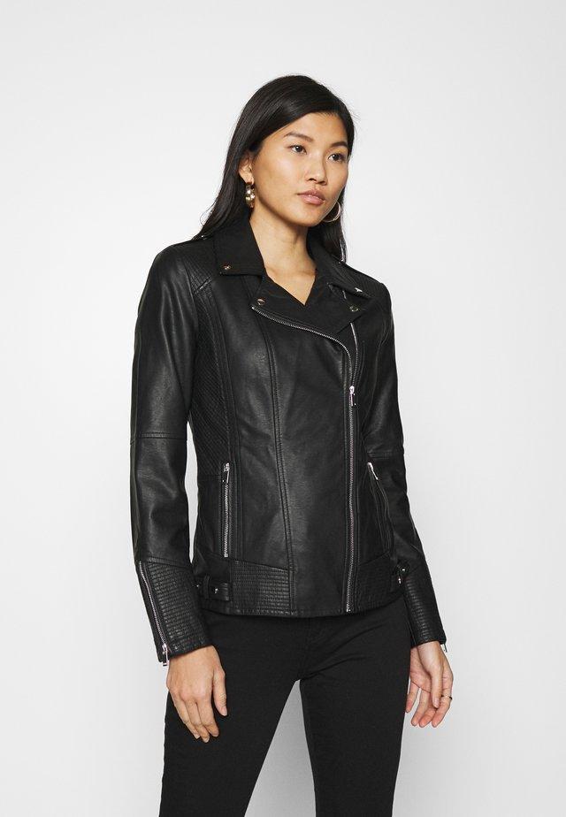 DARCEY BIKER - Leather jacket - black