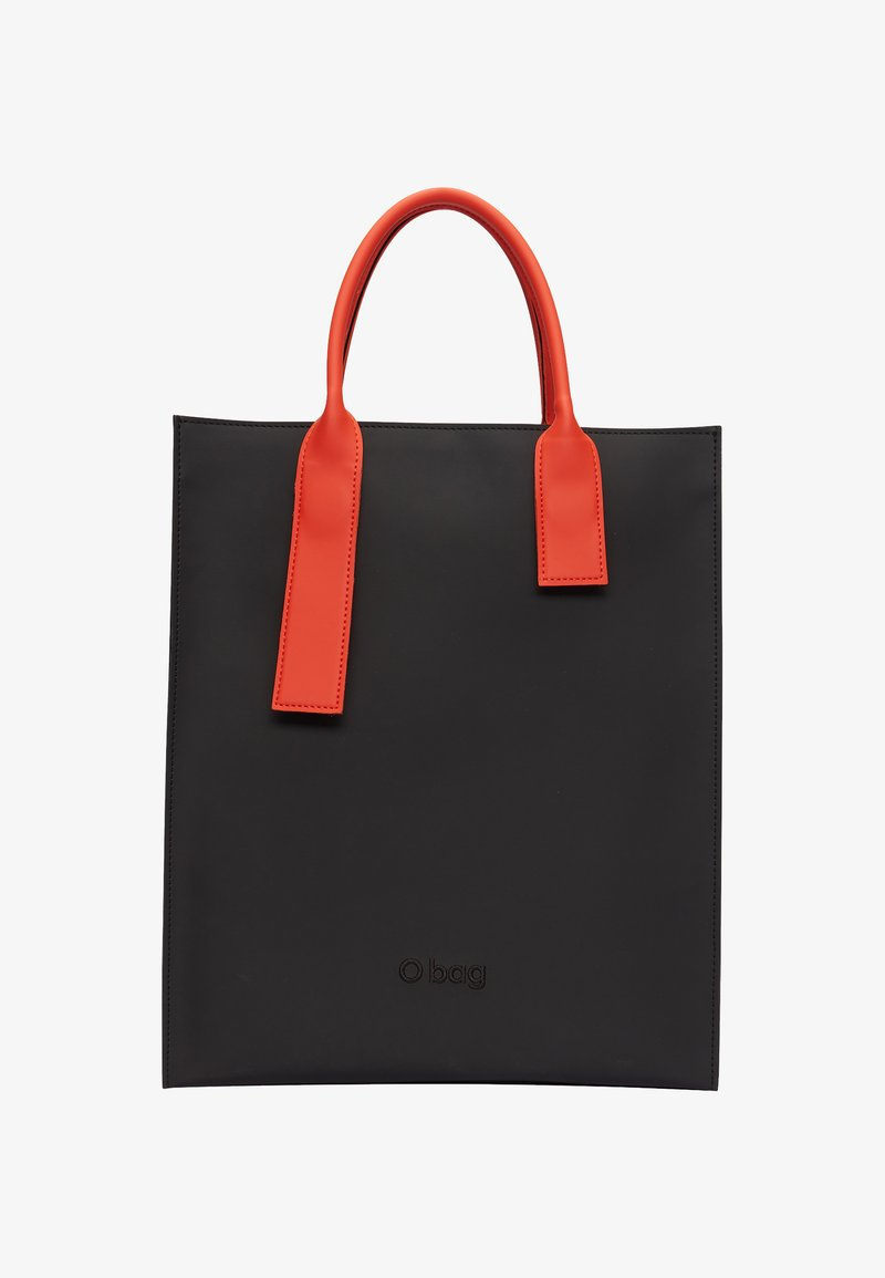 O Bag - Tote bag - nero-arancione