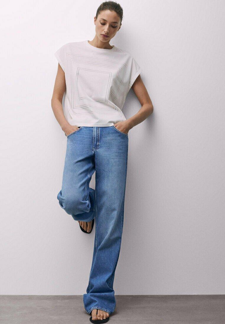 Massimo Dutti - Print T-shirt - orange