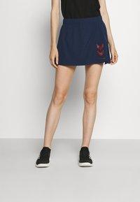 Hummel - PRO GAME SKORT WOMAN - Sports skirt - black iris - 0