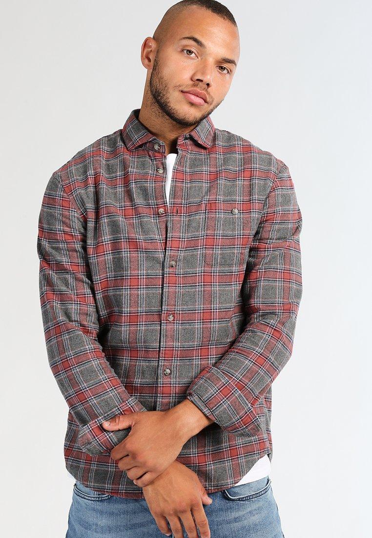 Bulk Designs Latest Men's Clothing Pier One Shirt grey/coral AoysHJTqC WqKzGjdGt