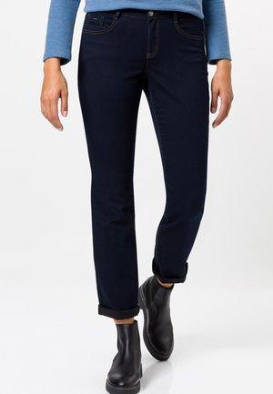 Straight leg jeans - blue black rinse wash