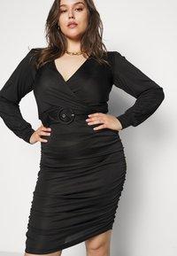Vero Moda Curve - VMEIRO KNEE DRESS  - Etuikjole - black - 4