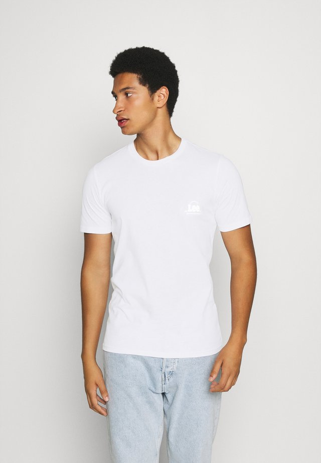 TONAL FLOCK LOGO TEE - T-shirts med print - white