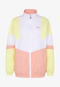 BAKA - Training jacket - limelight/bright white/lobster bisque