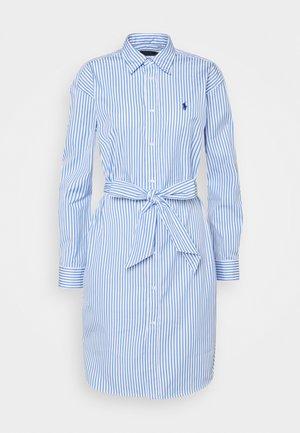 Blusenkleid - white/blue