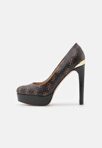 DEARLY - Platform heels - beige/light brown