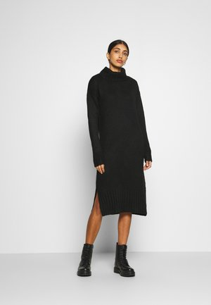 ROLL NECK DRESS - Robe pull - black