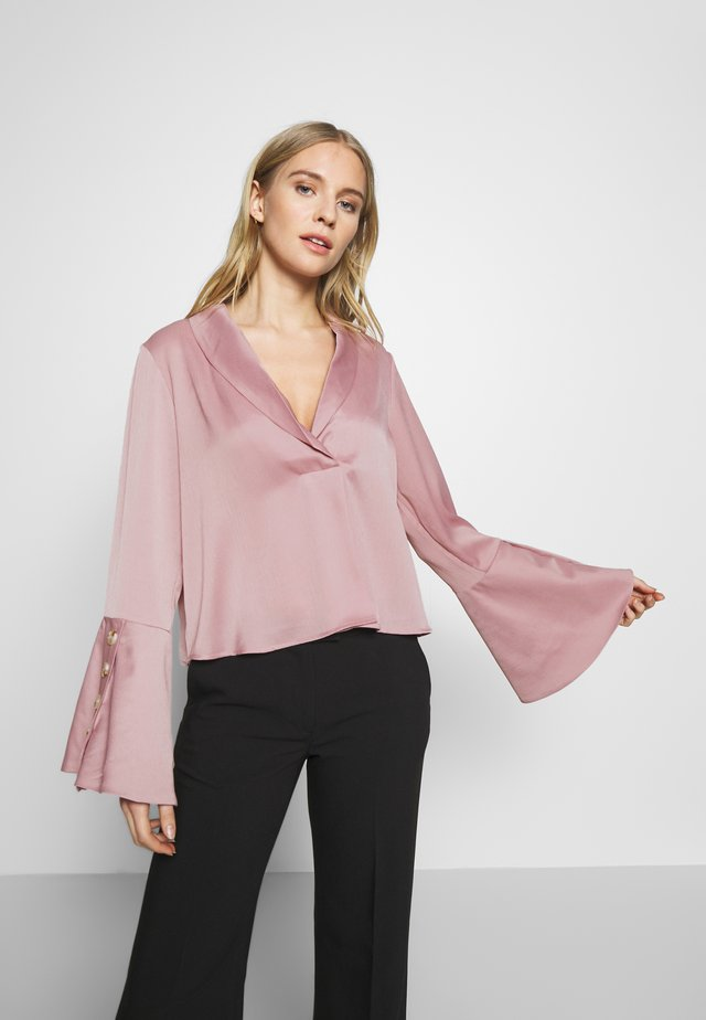 LUXE BUTTON SLEEVE BLOUSE - Blouse - lilac