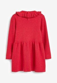 Next - FRILL NECK - Jumper dress - red - 1