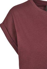 Urban Classics - EXTENDED SHOULDER TEE - Camiseta básica - redwine - 8