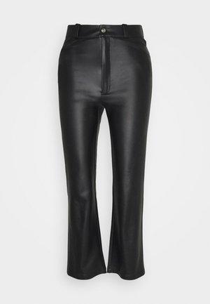 STRAIGHT PANTS - Trousers - black