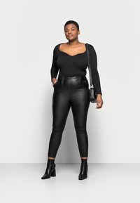 Simply Be - HIGH WAIST SHAPER - Slim fit jeans - black - 1