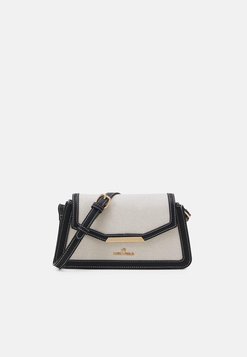 Anna Field - Across body bag - beige/black