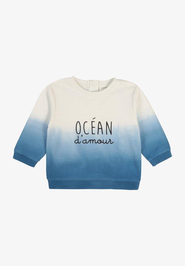 Sweatshirt - blanc/bleu