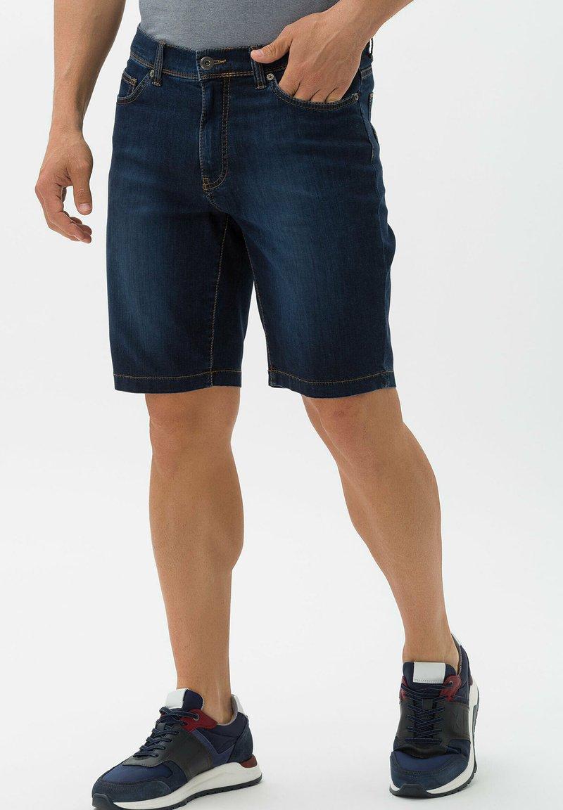BRAX - STYLE BALI - Denim shorts - deep blue sea