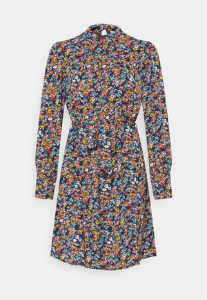 VISIMBA TIE BELT DRESS - Kjole - navy blazer