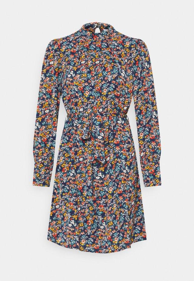 VISIMBA TIE BELT DRESS - Korte jurk - navy blazer