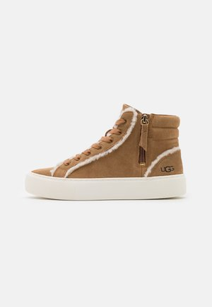OLLI HERITAGE - High-top trainers - chestnut
