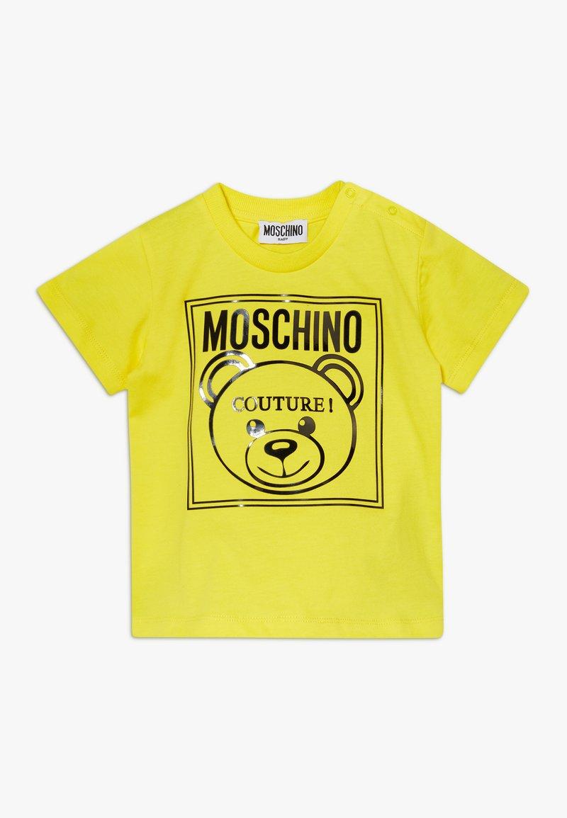 MOSCHINO - Camiseta estampada - blazing yellow