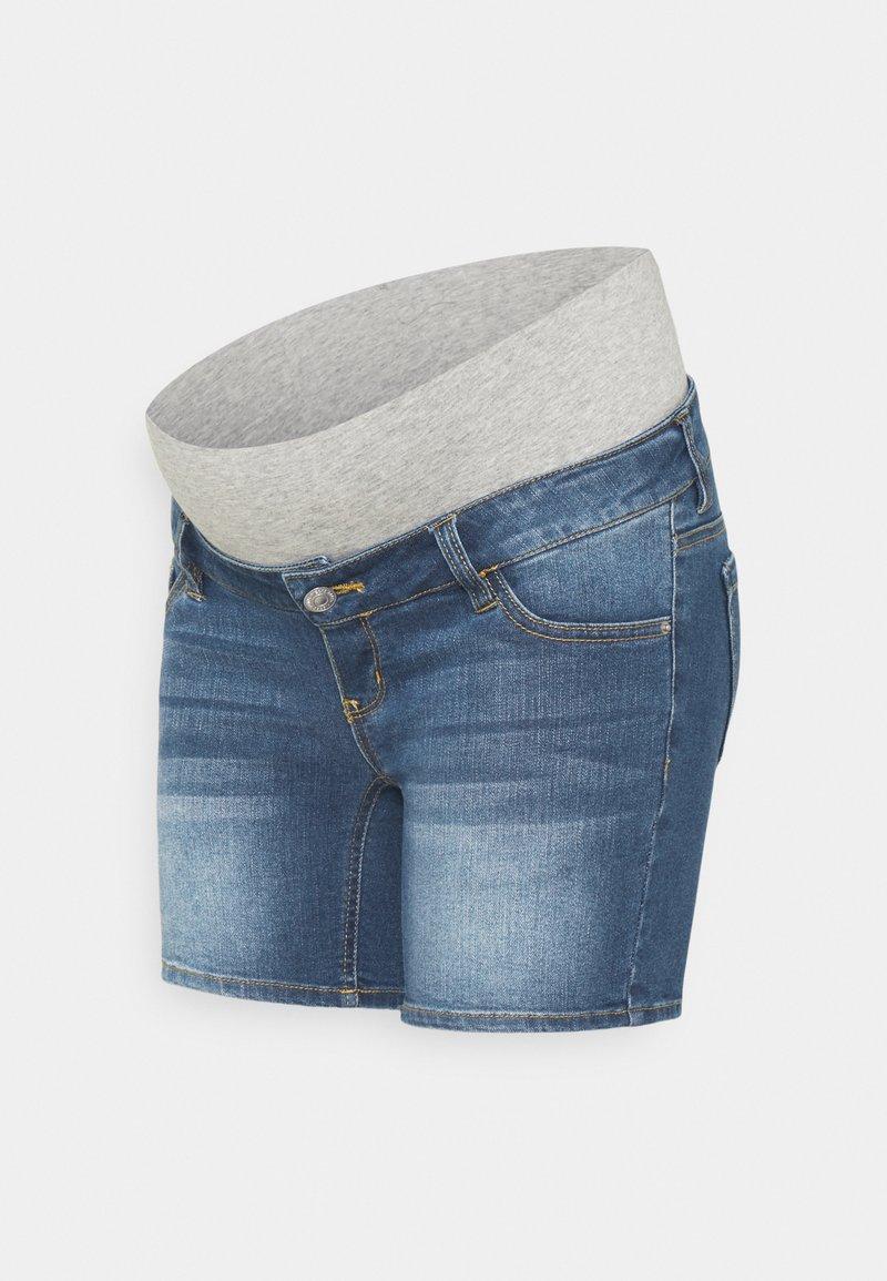 Pieces Maternity - PCMLILA  - Denim shorts - medium blue denim