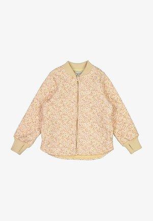 Bomber Jacket - soft beige flowers