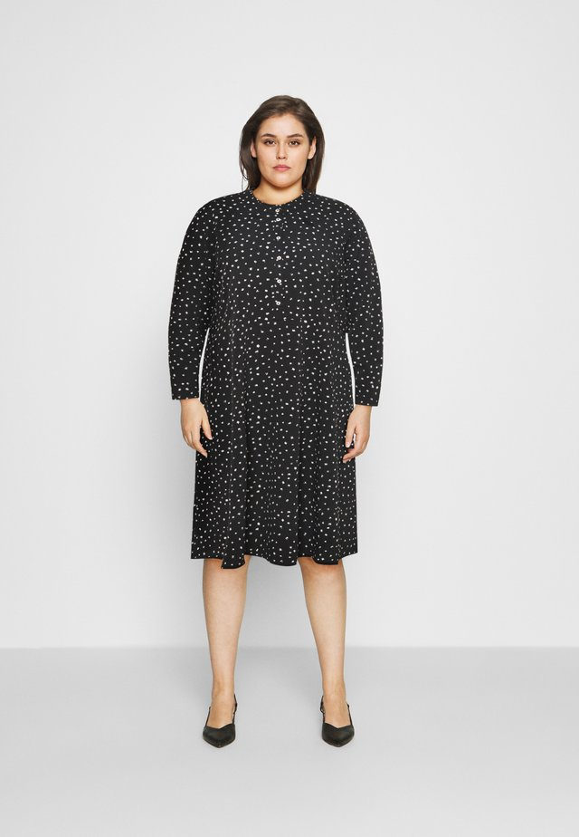 SPOT SHIRT DRESS - Robe d'été - black