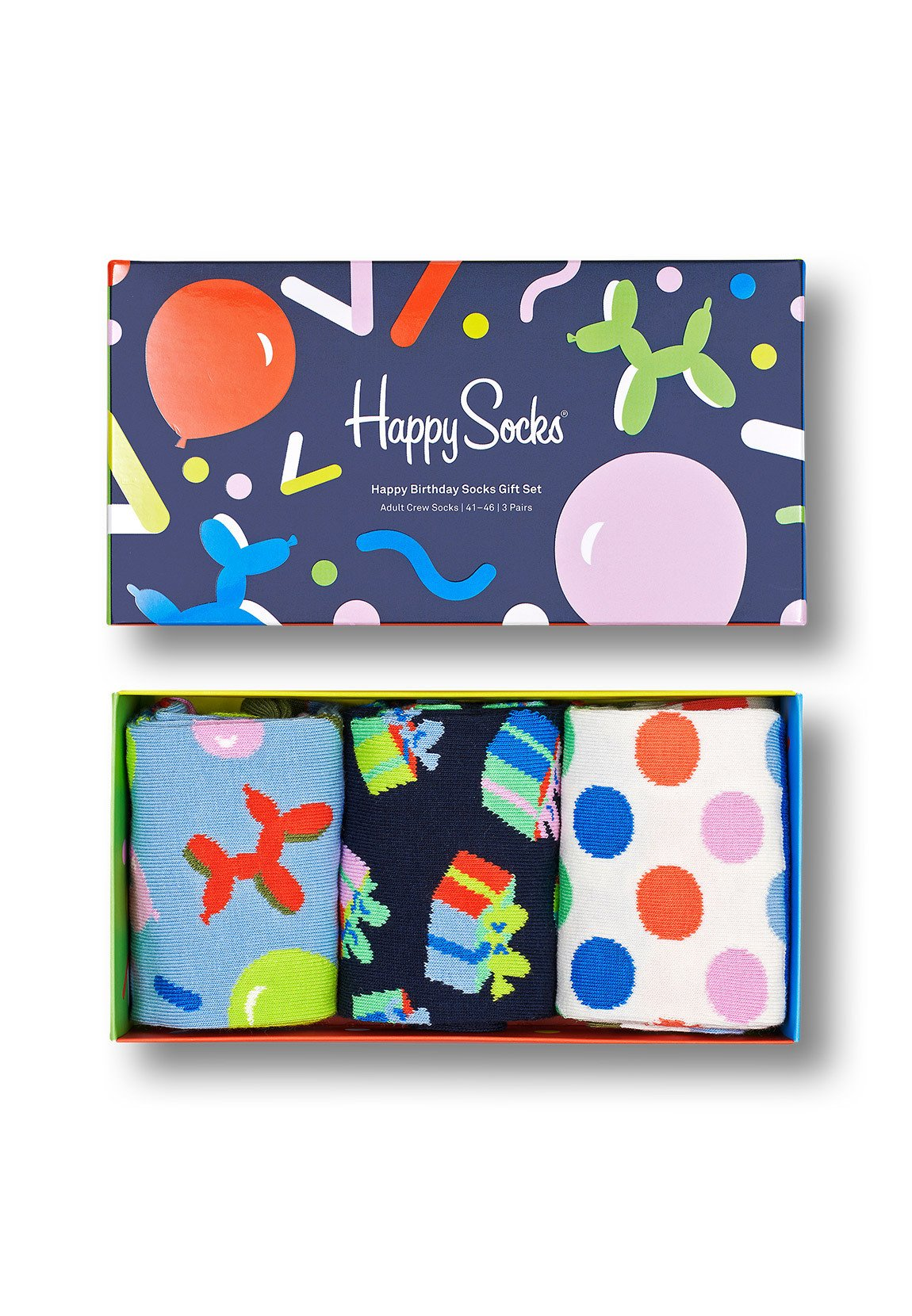 Mujer HAPPY BIRTHDAY SOCKS GIFT SET 3-PACK  - Calcetines
