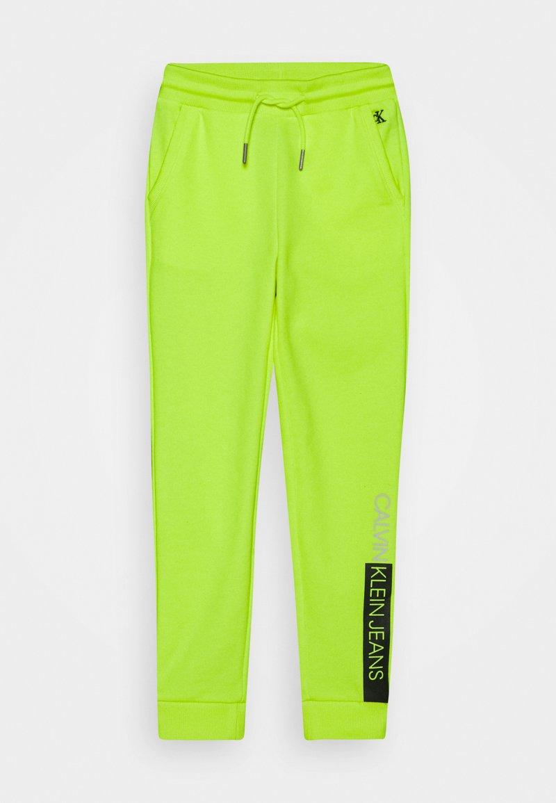 Calvin Klein Jeans - INSTITUTIONAL BLOCK - Teplákové kalhoty - yellow