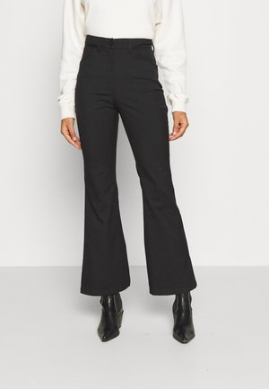 RAMONA TROUSERS - Flared Jeans - black