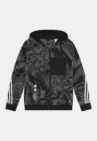 adidas Performance - HOOD UNISEX - Zip-up sweatshirt - black/white - 0