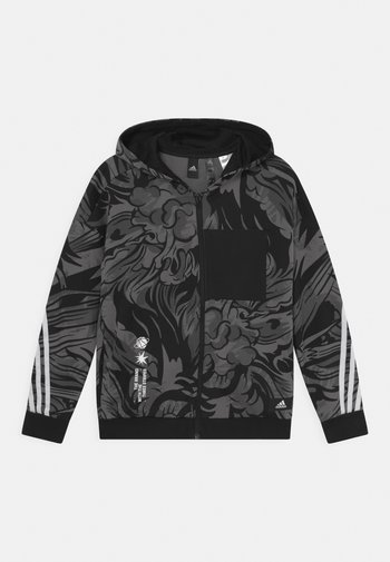 HOOD UNISEX - Zip-up sweatshirt - black/white