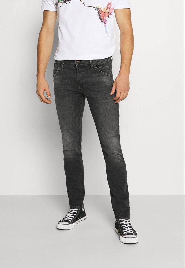 JJIGLENN JJFOX AGI - Vaqueros slim fit - black denim