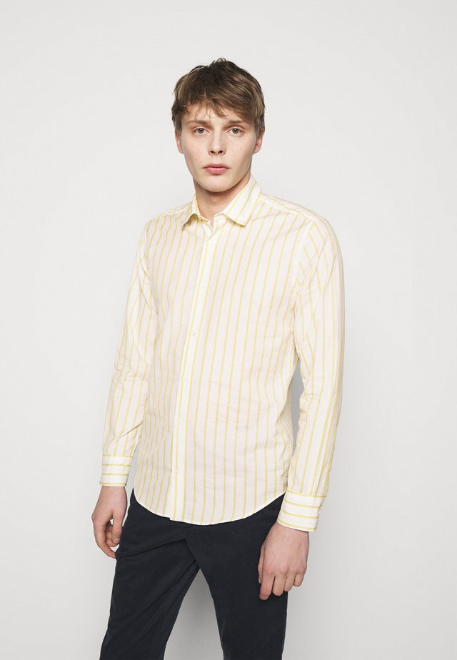 Shirt - yellow/white