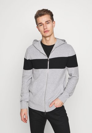 Cardigan - gray/black