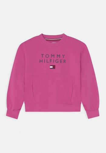 PLEATED SLEEVE - Sweatshirt - vivid fuchsia