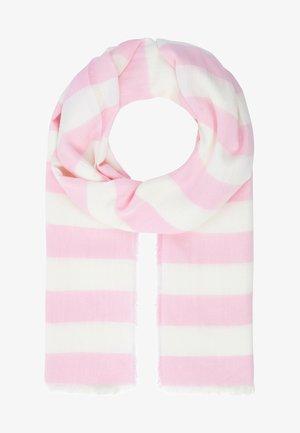Scarf - rosa-weiß