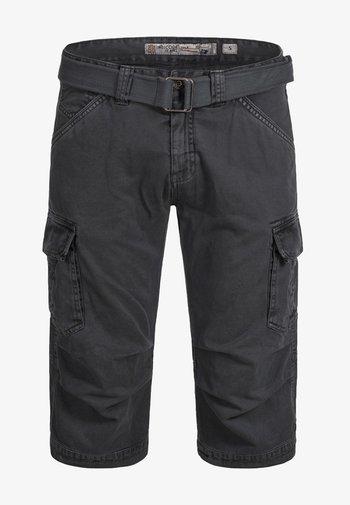 MIT GÜRTEL NICOLAS - Shorts - dark grey