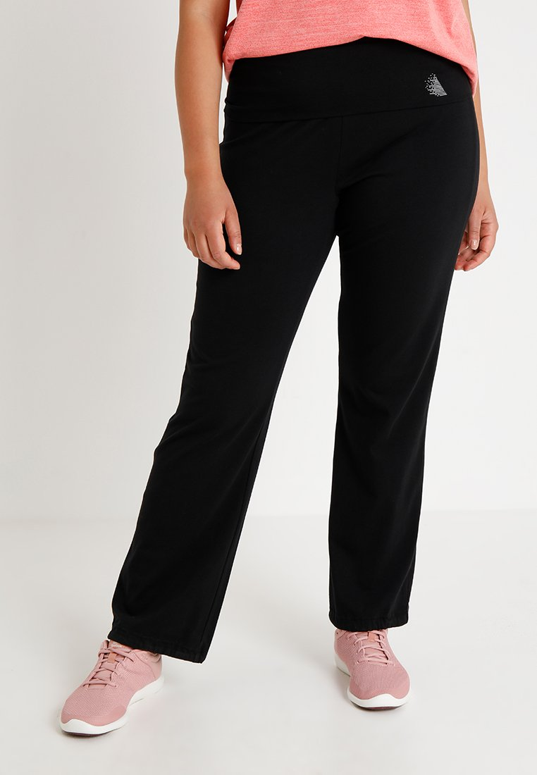 Active by Zizzi - BASIC LONG PANT - Tracksuit bottoms - black