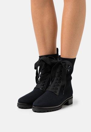 MERIGUE - Šněrovací kotníkové boty - black