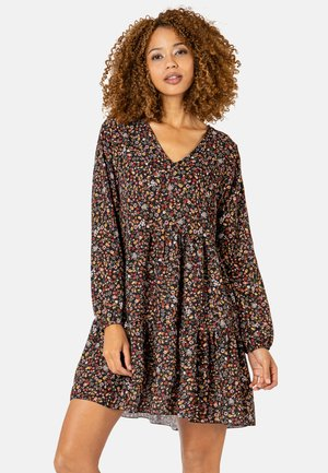 MIT BLUMENPRINT - Day dress - black