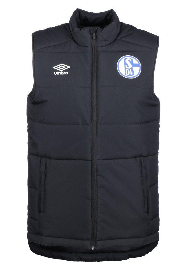 FC SCHALKE 04 PADDED WESTE HERREN - Bodywarmer - black