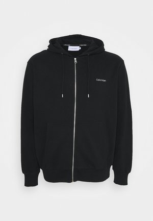 LOGO EMBROID ZIP THRU HOODIE - Felpa aperta - black