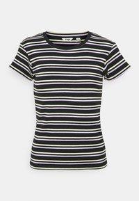 Wrangler - SLIM STRIPE - T-shirt z nadrukiem - faded black - 4