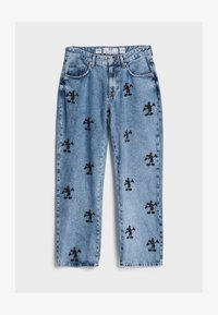 Bershka - MIT MICKY MAUS - Džíny Relaxed Fit - blue denim