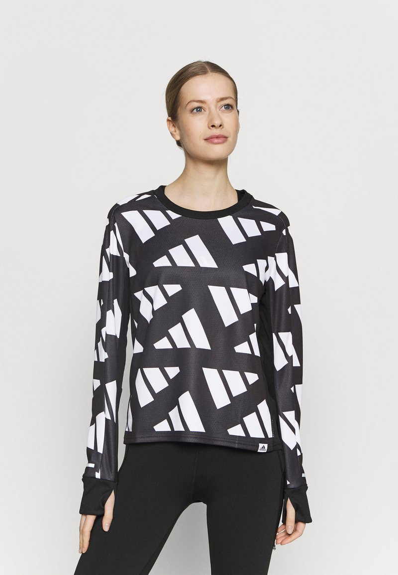 adidas Performance - CELEB - T-shirt sportiva - black/white
