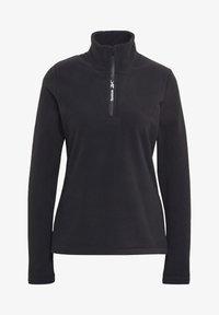 Reebok - OUTERWEAR QUARTER-ZIP TOP - Fleece jumper - black - 5