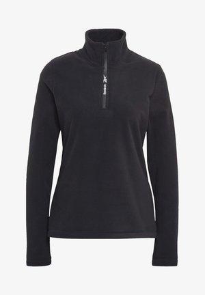 OUTERWEAR QUARTER-ZIP TOP - Fleece jumper - black