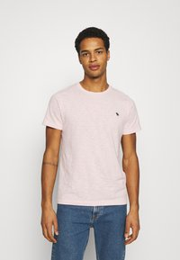 Abercrombie & Fitch - ICON CREW 3 PACK - T-shirt basique - pink/green/blue - 1