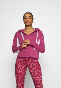 Under Armour - RIVAL HOODIE - Collegepaita - pink quartz - 0